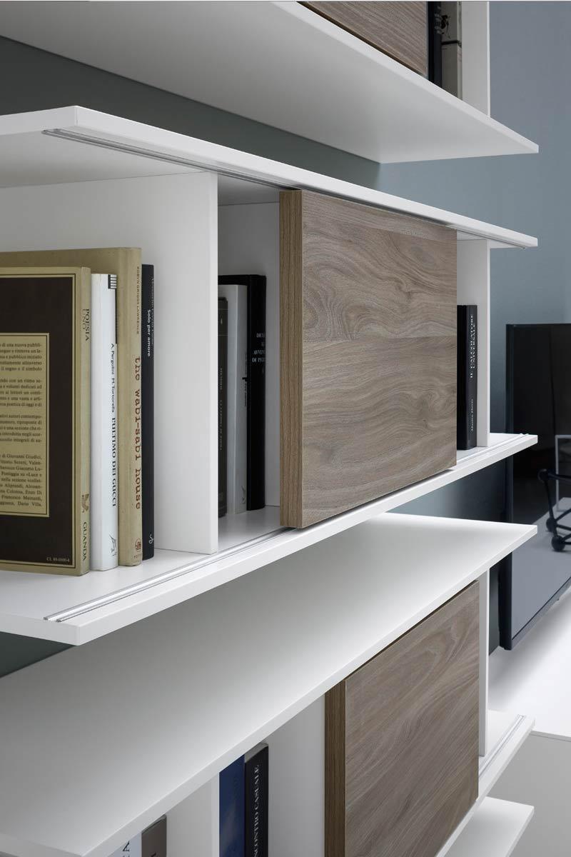 Libreria moderna componibile top lops butterfly for Arredamenti lops