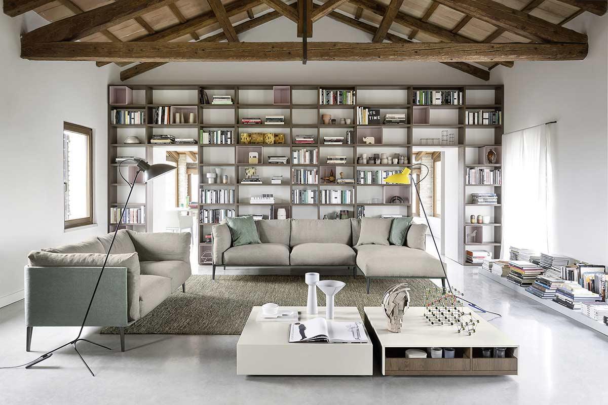 Librerie soggiorni e librerie classici e moderni divani for Arredo soggiorno