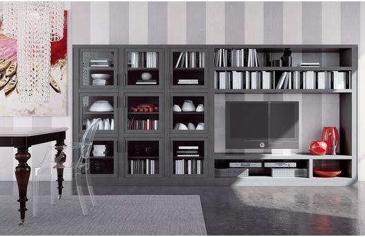 libreria moderna componibile le fablier melograno - acquistabile ... - Soggiorno Le Fablier Melograno 2