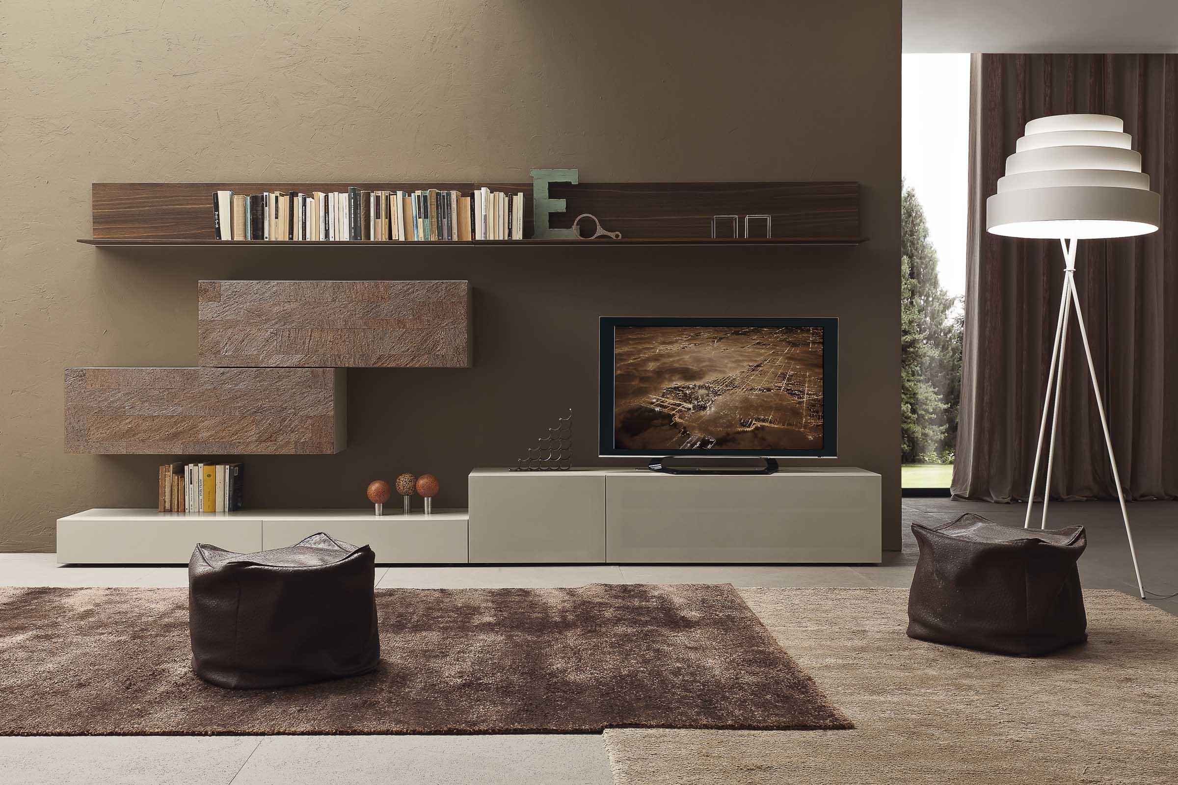 Soggiorno moderno componibile top lops progetto i modulart for Mobili x soggiorno moderni