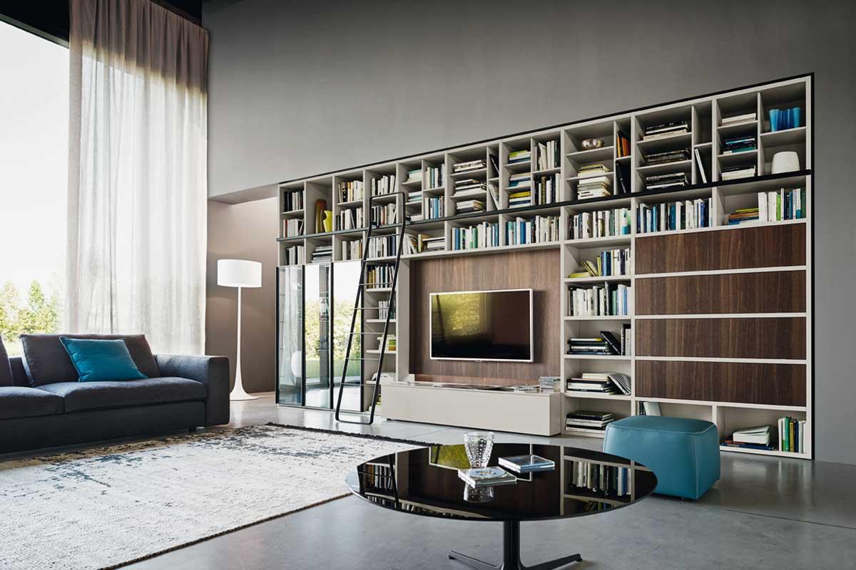 Librerie - Soggiorni e librerie classici e moderni, divani, divani ...