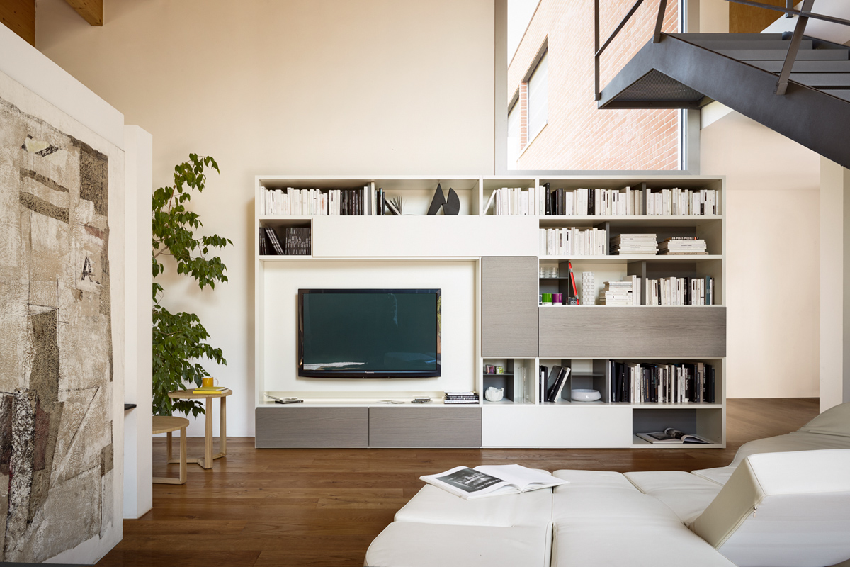 Soggiorno moderno componibile Top Lops Modo - Acquistabile in Milano ...