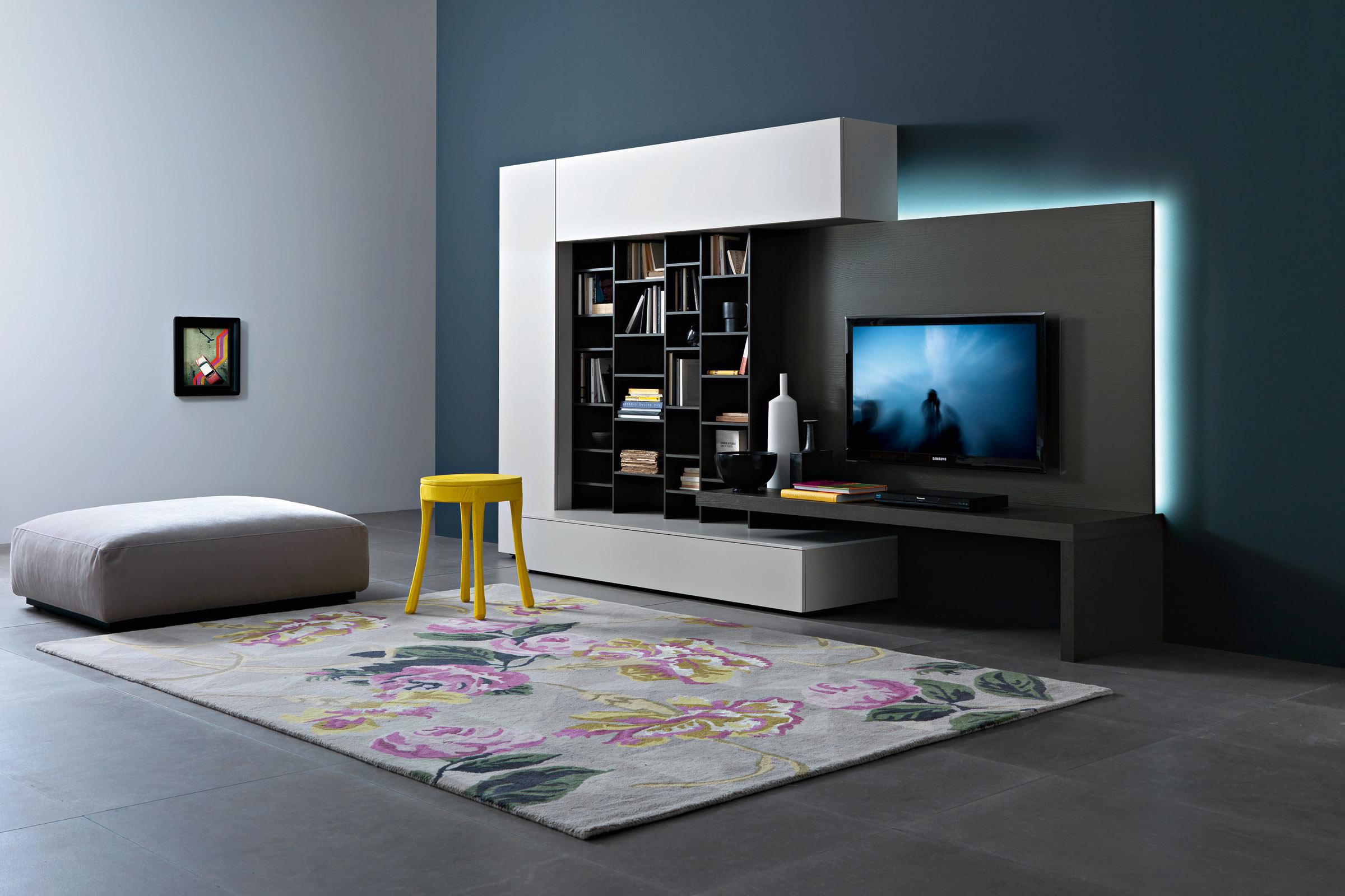 soggiorno moderno componibile top lops disegno - acquistabile in ... - Colori Per Soggiorno Moderno 2