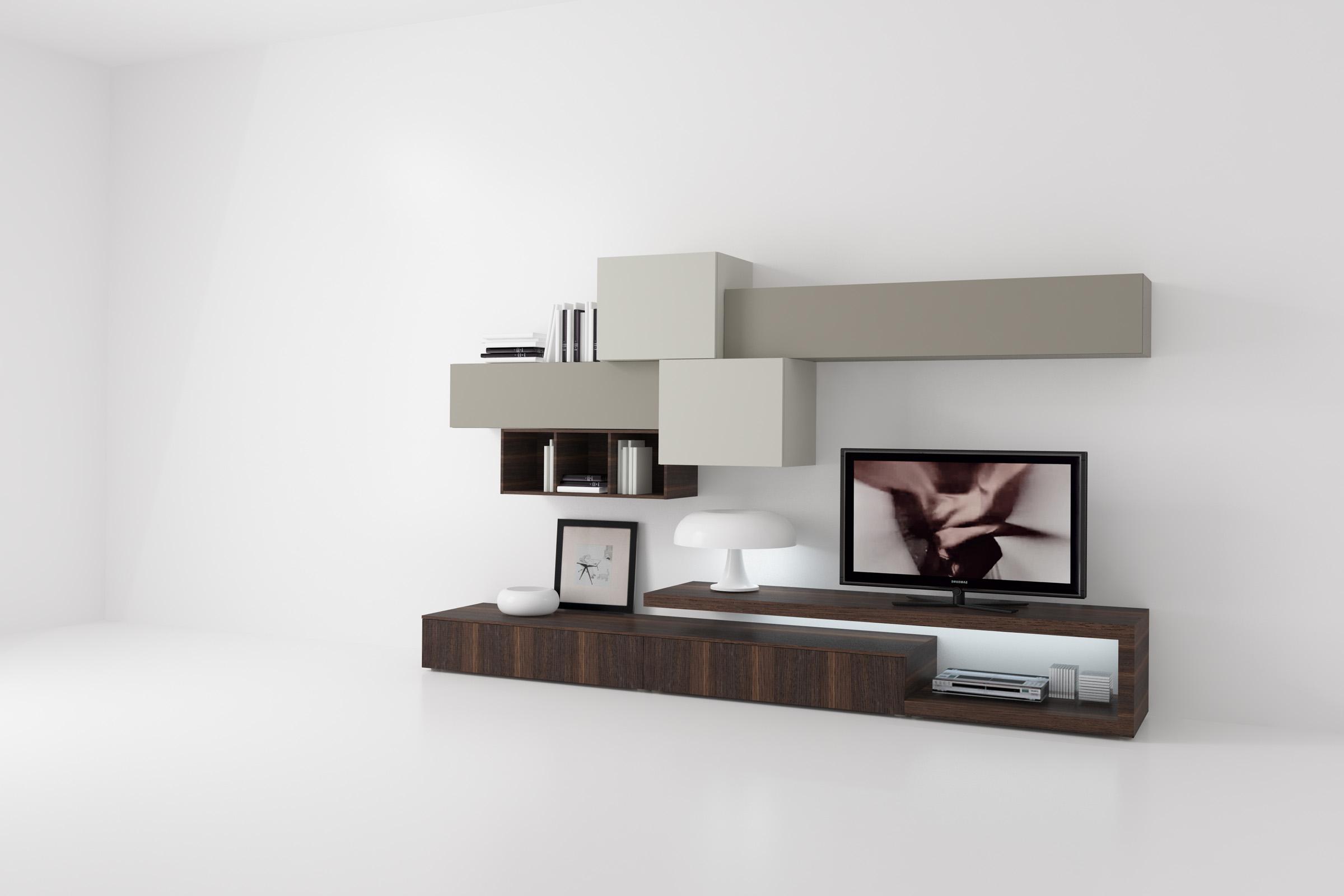 Soggiorno moderno componibile top lops disegno soggiorni for Immagini mobili moderni