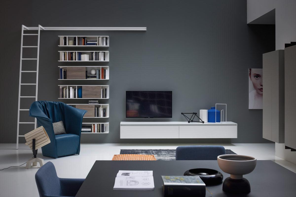 librerie - soggiorni e librerie classici e moderni, divani, divani ... - Libreria Novamobili Soggiorno 2