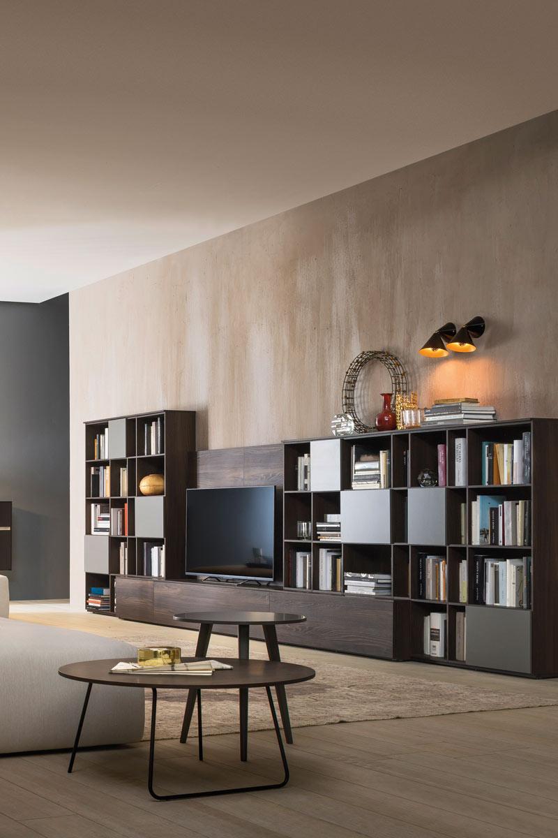 Soggiorno moderno componibile Top Lops Wall 12 - Acquistabile in Milano e pro...