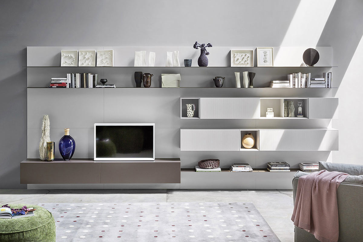 Soggiorno moderno componibile top lops progetto living for Progetto soggiorno moderno