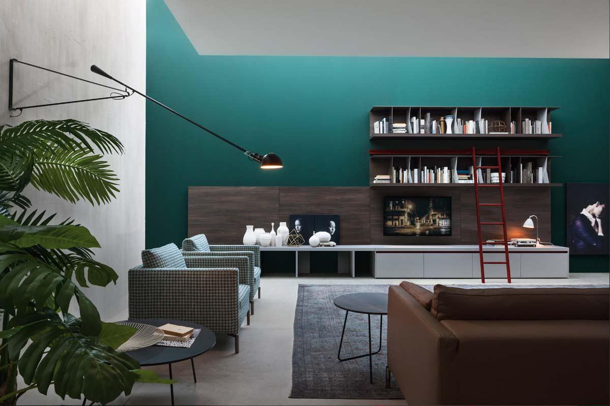 Pareti Salotto Verde : Pareti verde petrolio la with pareti verde petrolio affordable