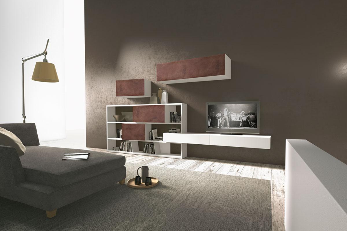Soggiorno moderno componibile Presotto CrossART - Acquistabile in Milano e provincia, Monza e ...