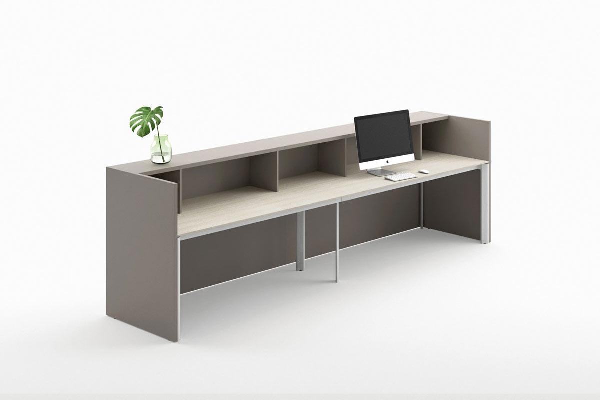 Sistema da ufficio componibile easy lops reception for Reception da ufficio