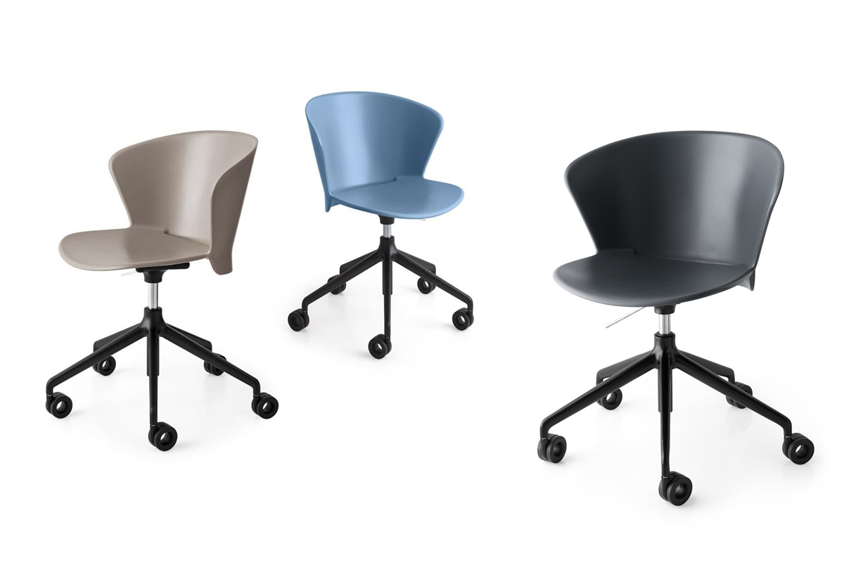 Sedia da ufficio moderna calligaris bahia sedie da for Sedie da ufficio milano