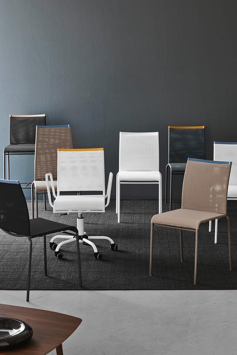 Sedia da ufficio moderna calligaris web race sedie da for Web mobili outlet