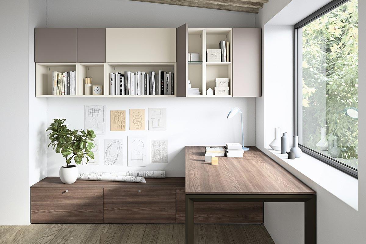 Sistemi Componibili Zona Giorno.Sistema Da Ufficio Componibile Easy Lops Home Office Progetto 1
